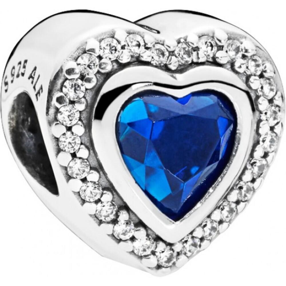 PANDORA Charm 797608NANB Sparkling Love Sterling Silber 925