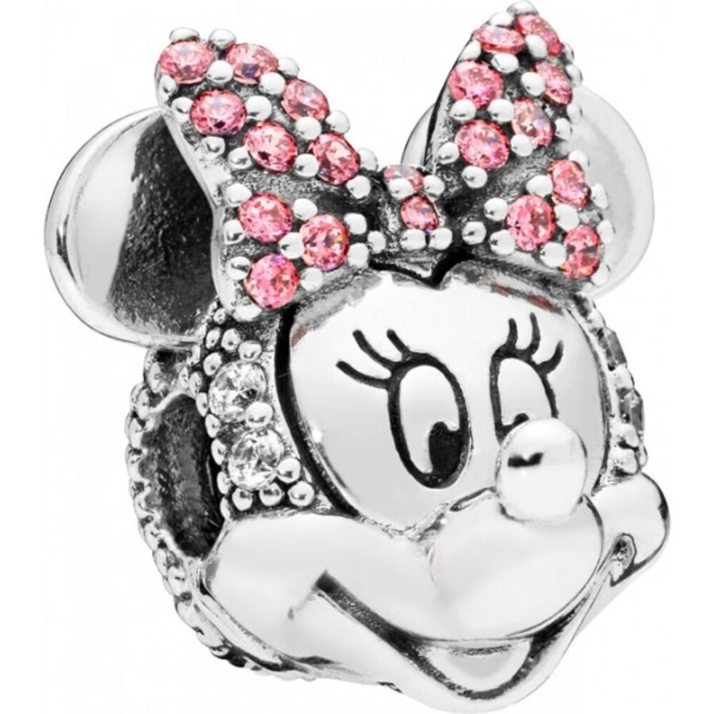 PANDORA Disney Clip Charm 797496CZS Silber Shimmering Minnie Portrait 925