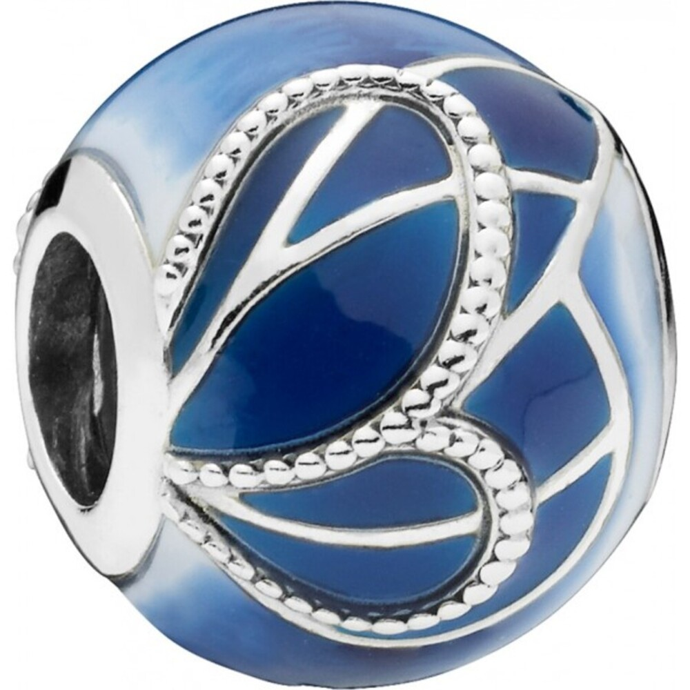 PANDORA Charm 797886ENMX Blue Butterfly Wing
