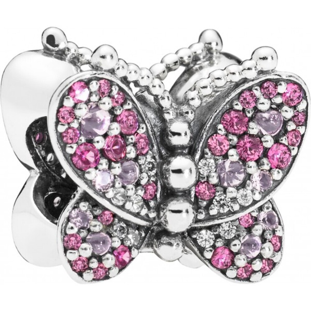 PANDORA Charm 797882NCCMX Dazzling Pink Butterfly