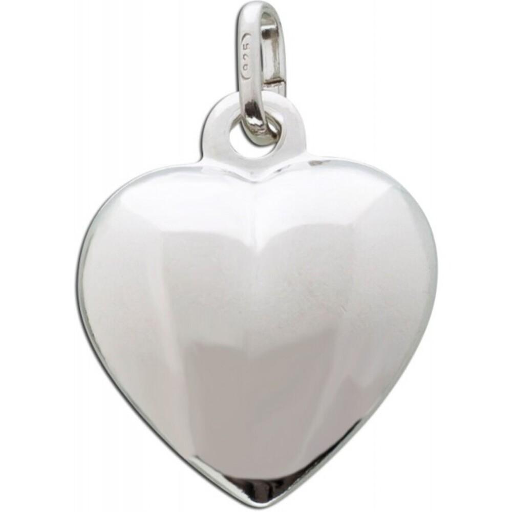 Silber Herz Anhänger Kettenanhänger Sterling Silber 925 poliert