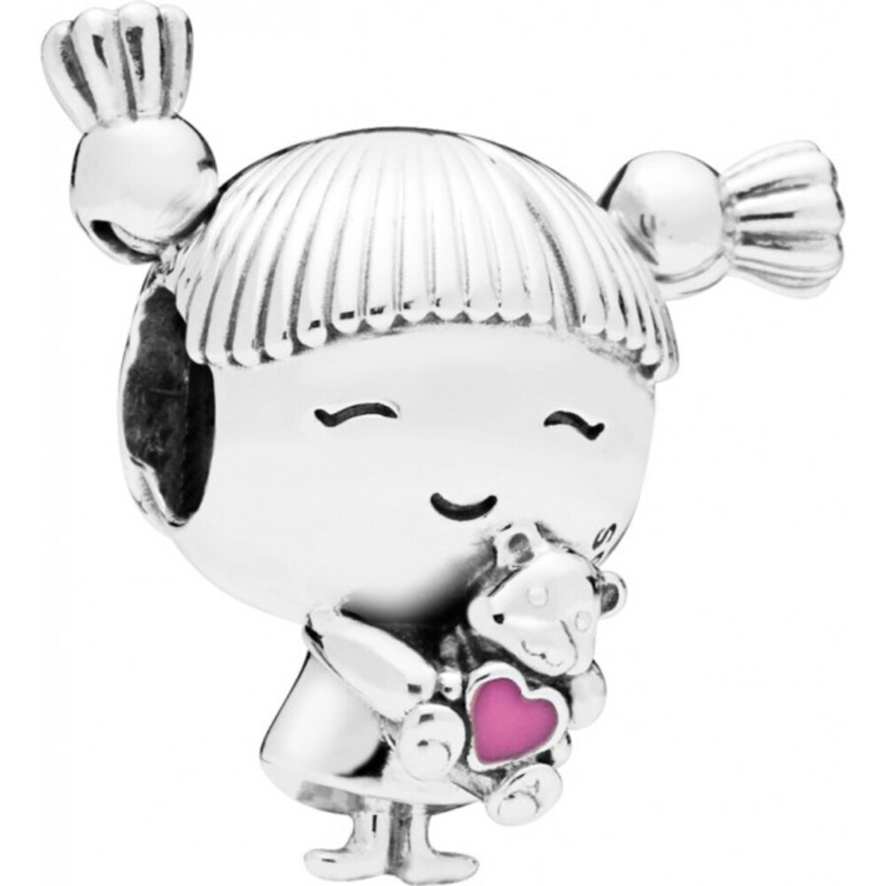 PANDORA Charm 798016EN160 Girl with Pigtails