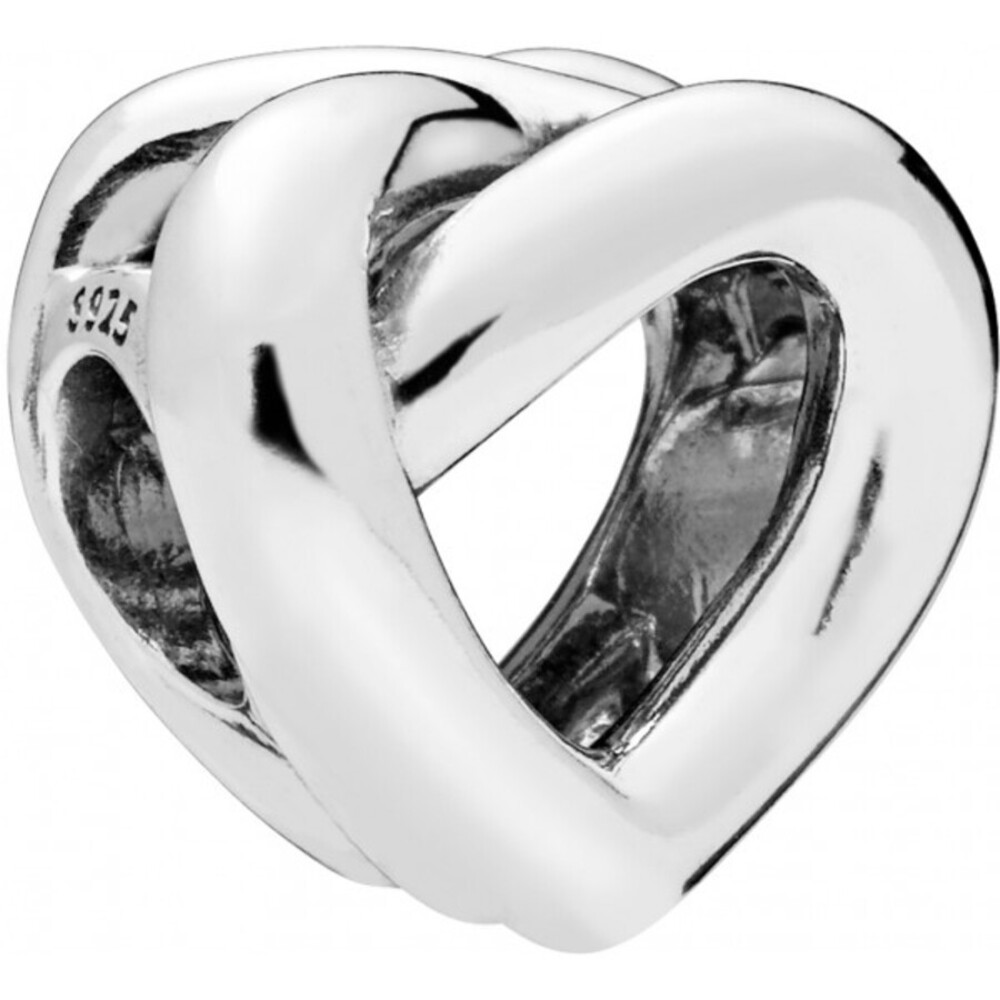 PANDORA Charm 798081 Knotted Heart Herz Silber