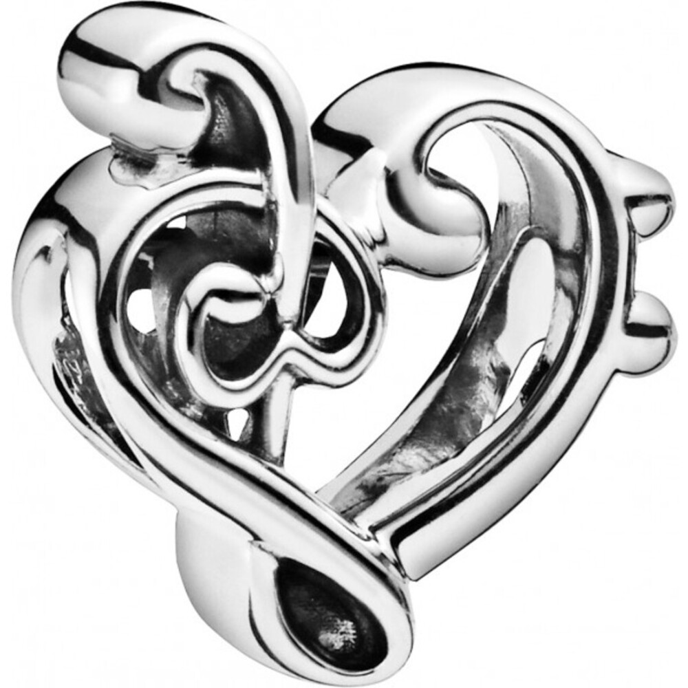 PANDORA Charm 798346 Heart Treble Clef Sterling Silber