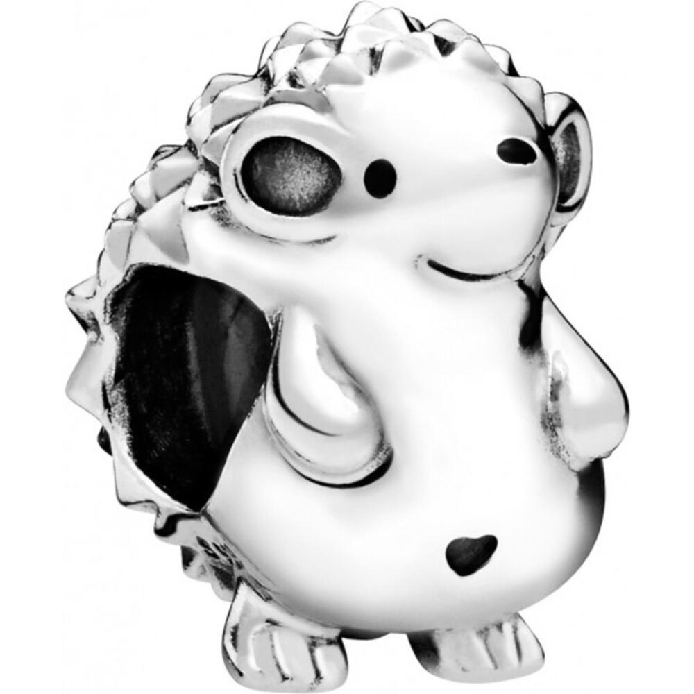 PANDORA Charm 798353EN16 Nino the Hedgehog Sterling Silber schwarze Emaille