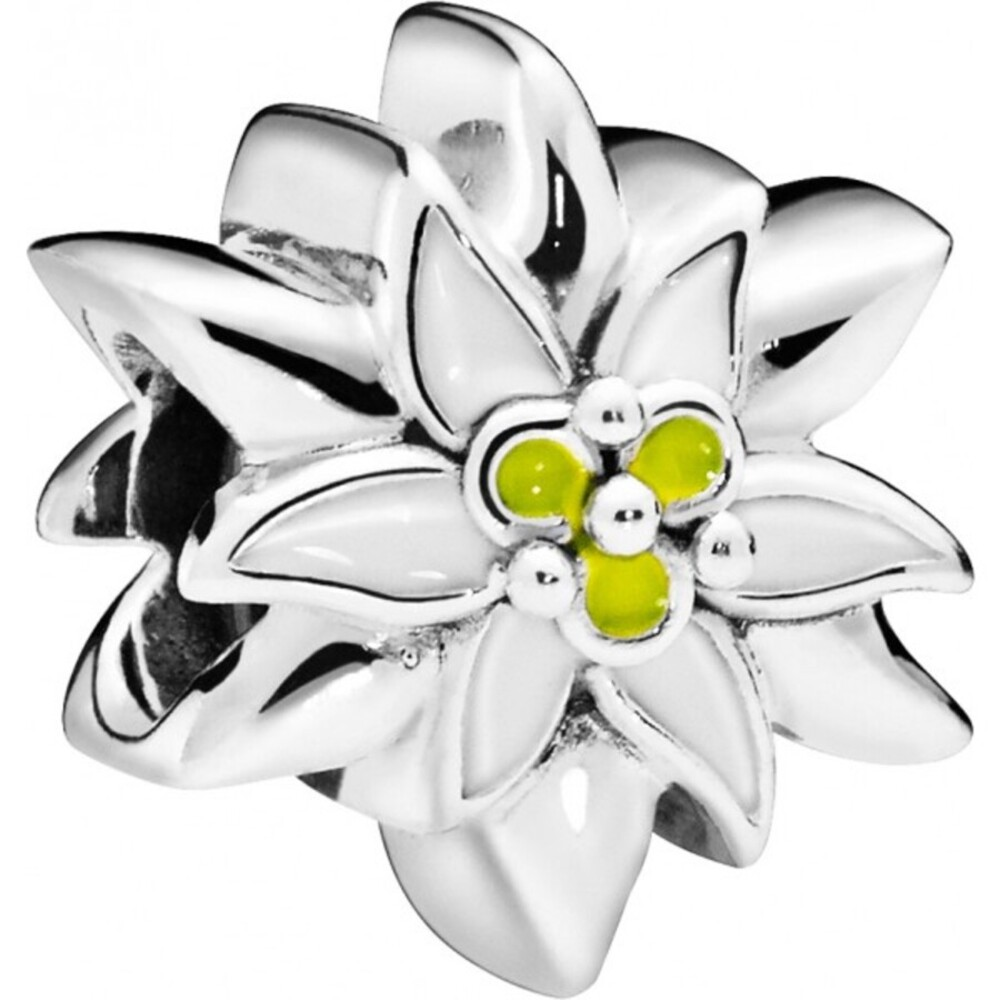 PANDORA Charm 798243ENMX Edelweiss Flower Emaille