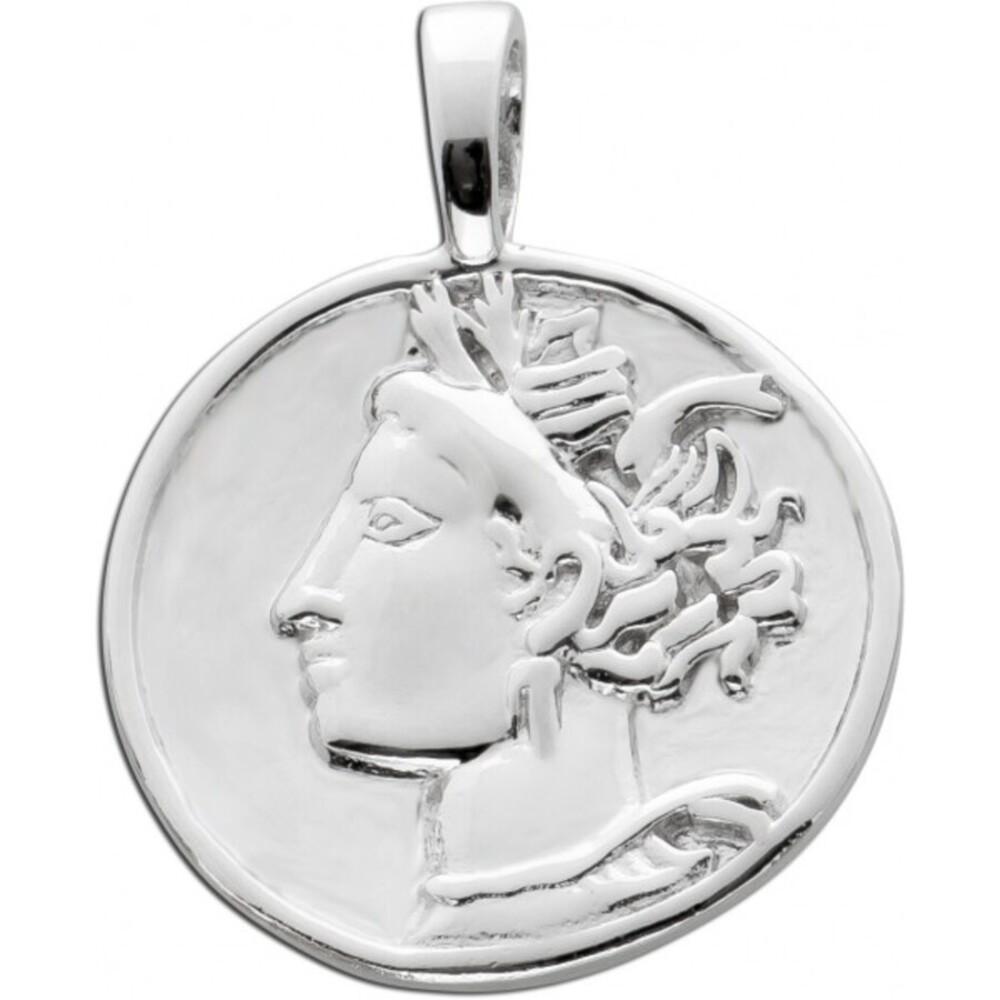 Münzen Anhänger Silber 925 Coin Anhänger  1