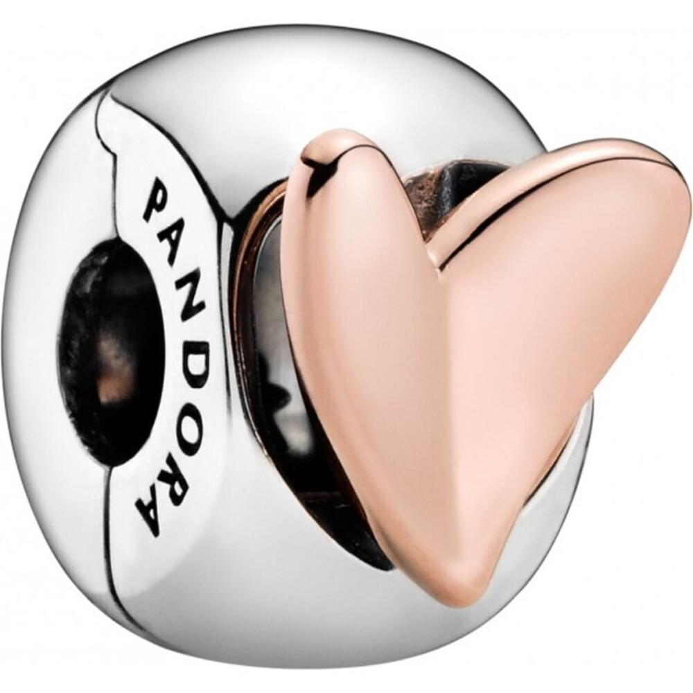 Pandora Clip Charm 788697C00 Rose Freehand Heart Silber 925 rose Herz