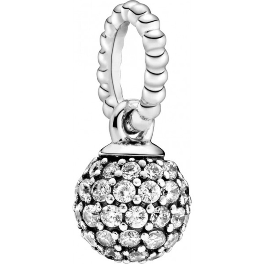 Pandora Anhänger 398690C01 Pave Ball Silber 925 pavé gefasste klare cubic Zirkonia