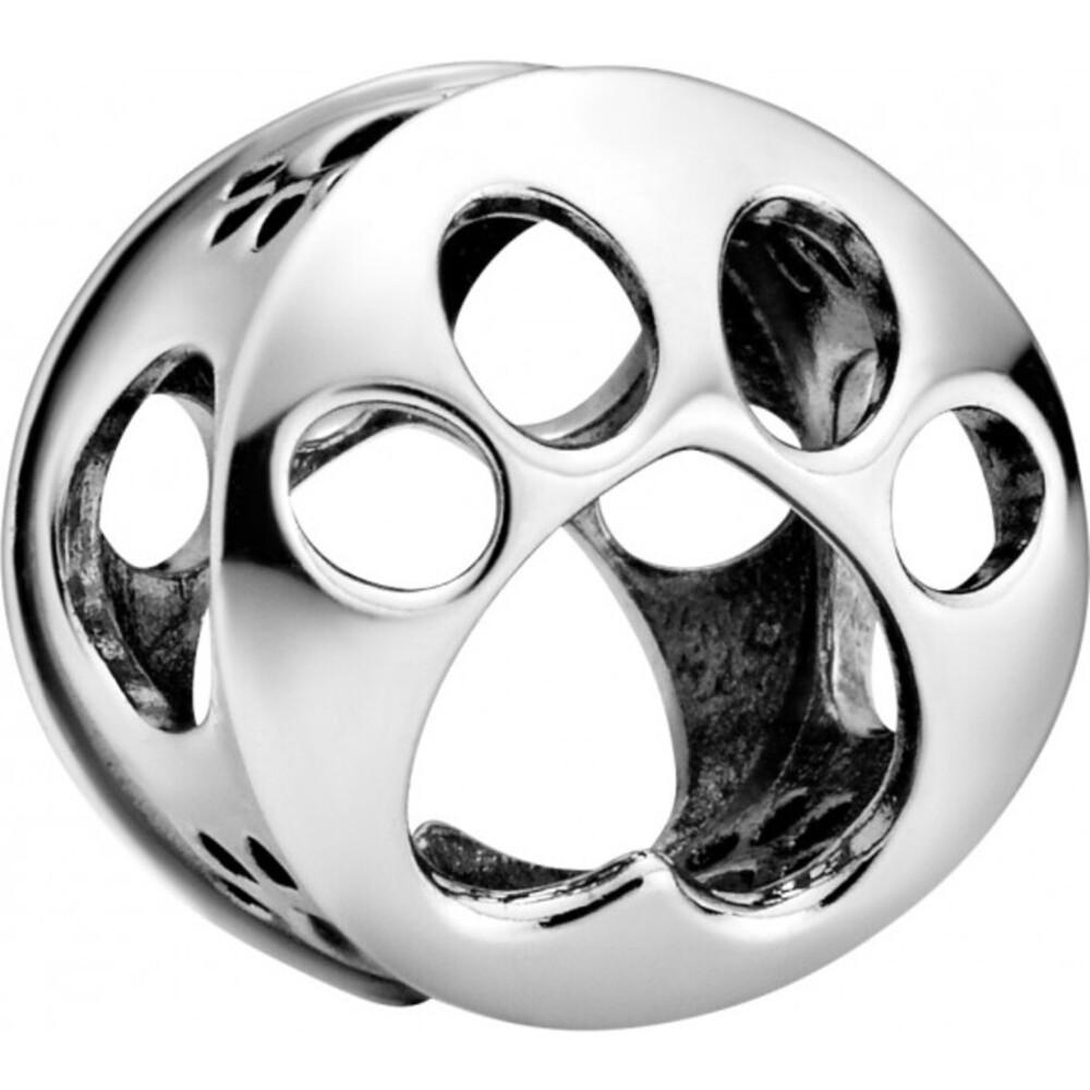 Pandora Passions Charm 798869C00 Openwork Paw Print Silber 925