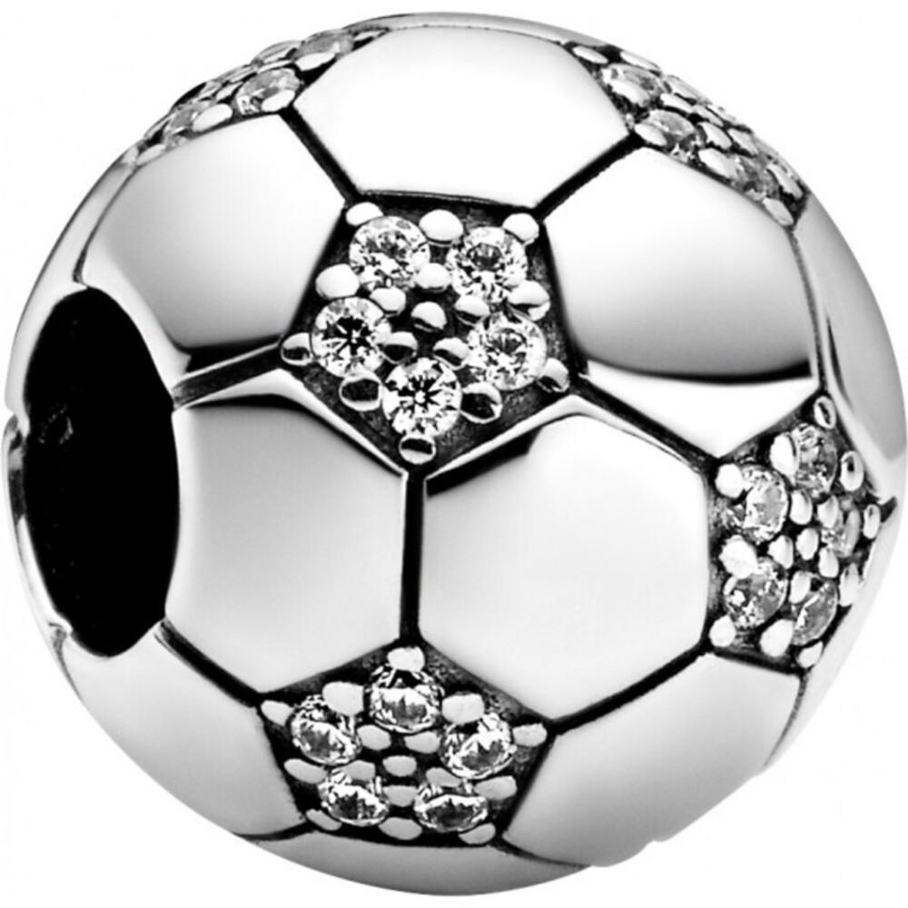 Pandora Passions Charm 798795C01 Sparkling Football Silber 925 Klare Zirkonia