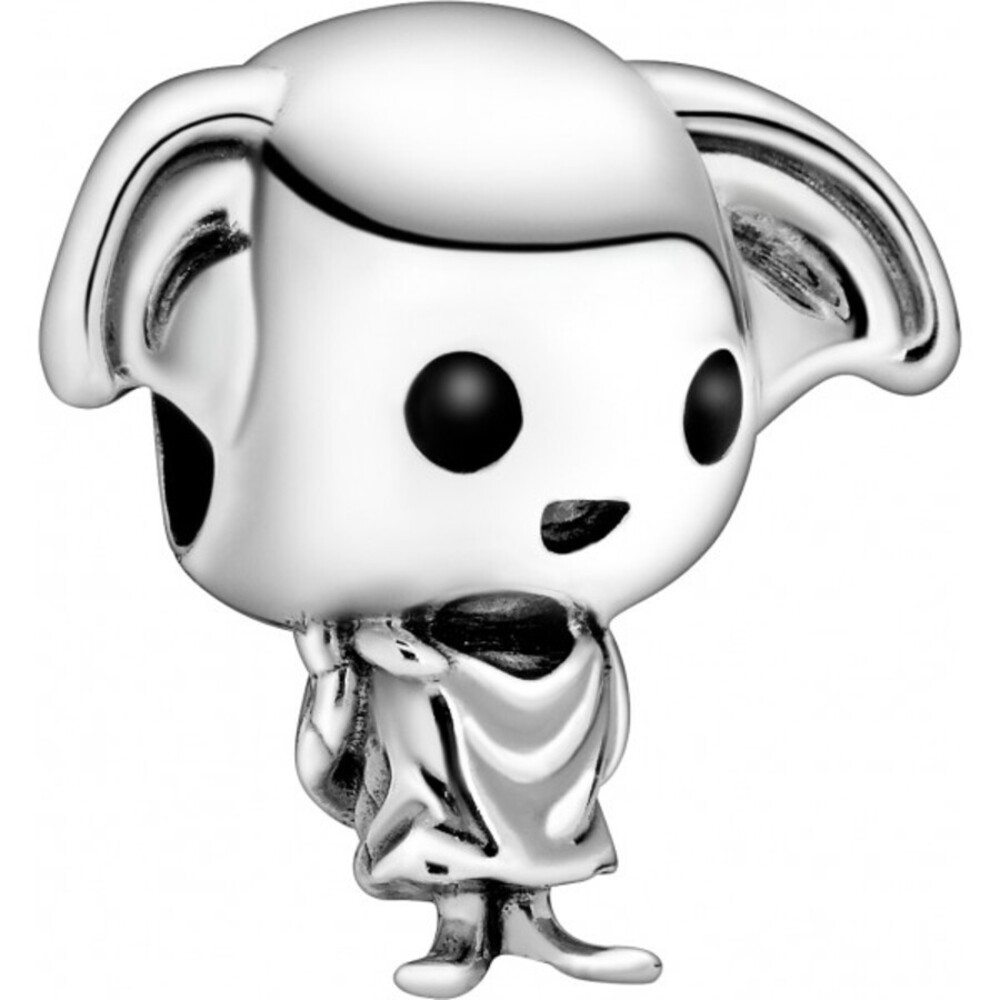 Pandora Harry Potter Charm 798629C01 Dobby the House Elf Silber 925 Schwarz Weiß Emaille