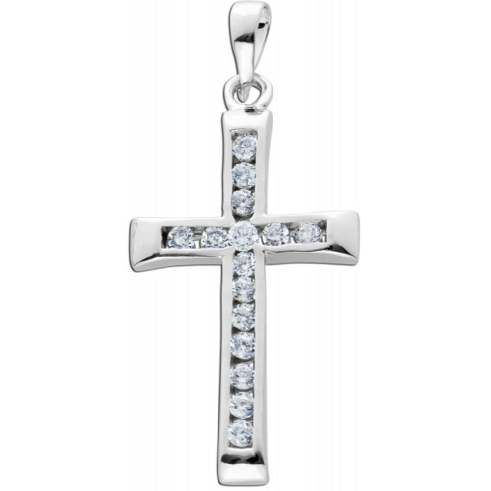 Zirkonia Kreuz  Anhänger Silber 925 Damenschmuck