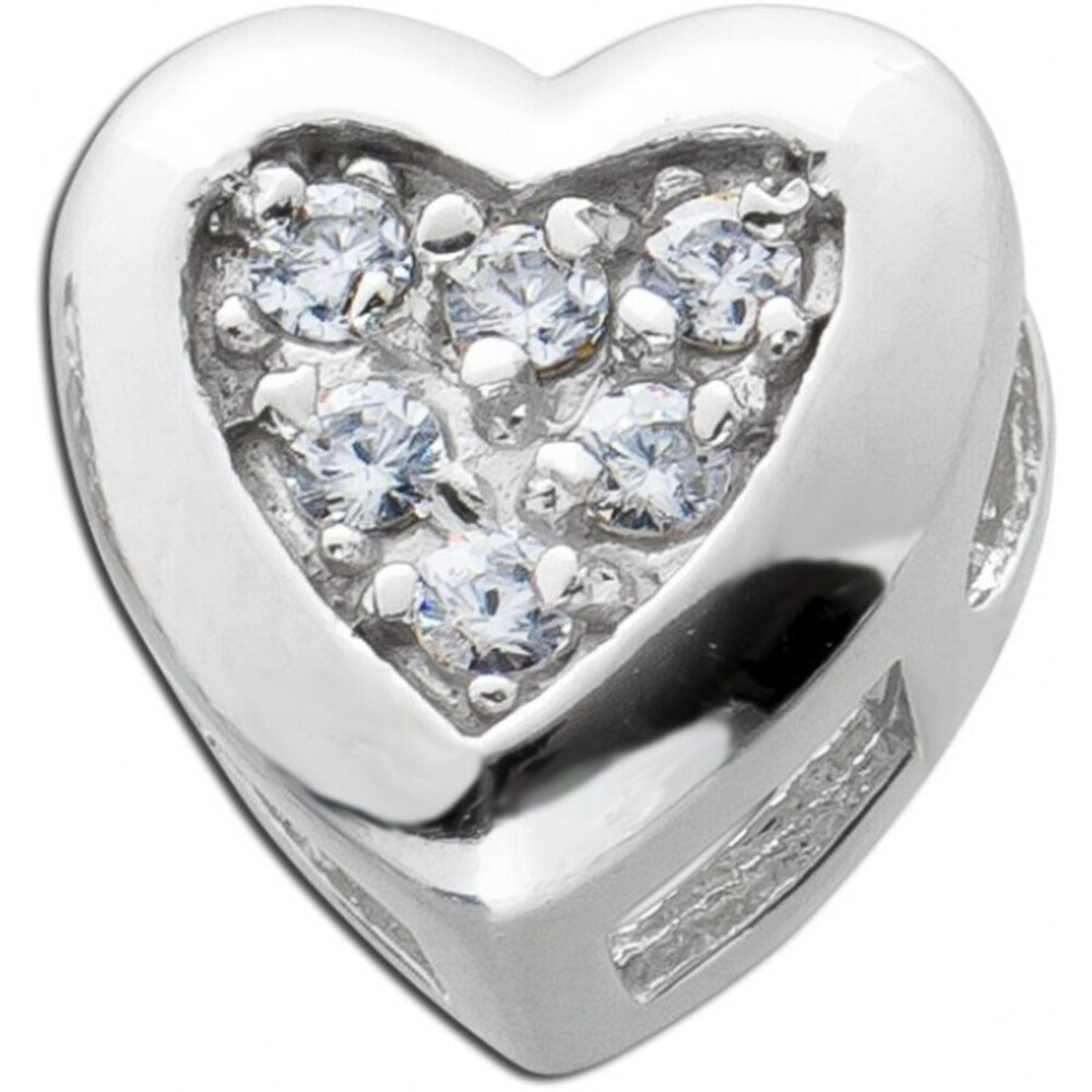 Herz Anhänger weißen Zirkonia Silber 925 Damenschmuck
