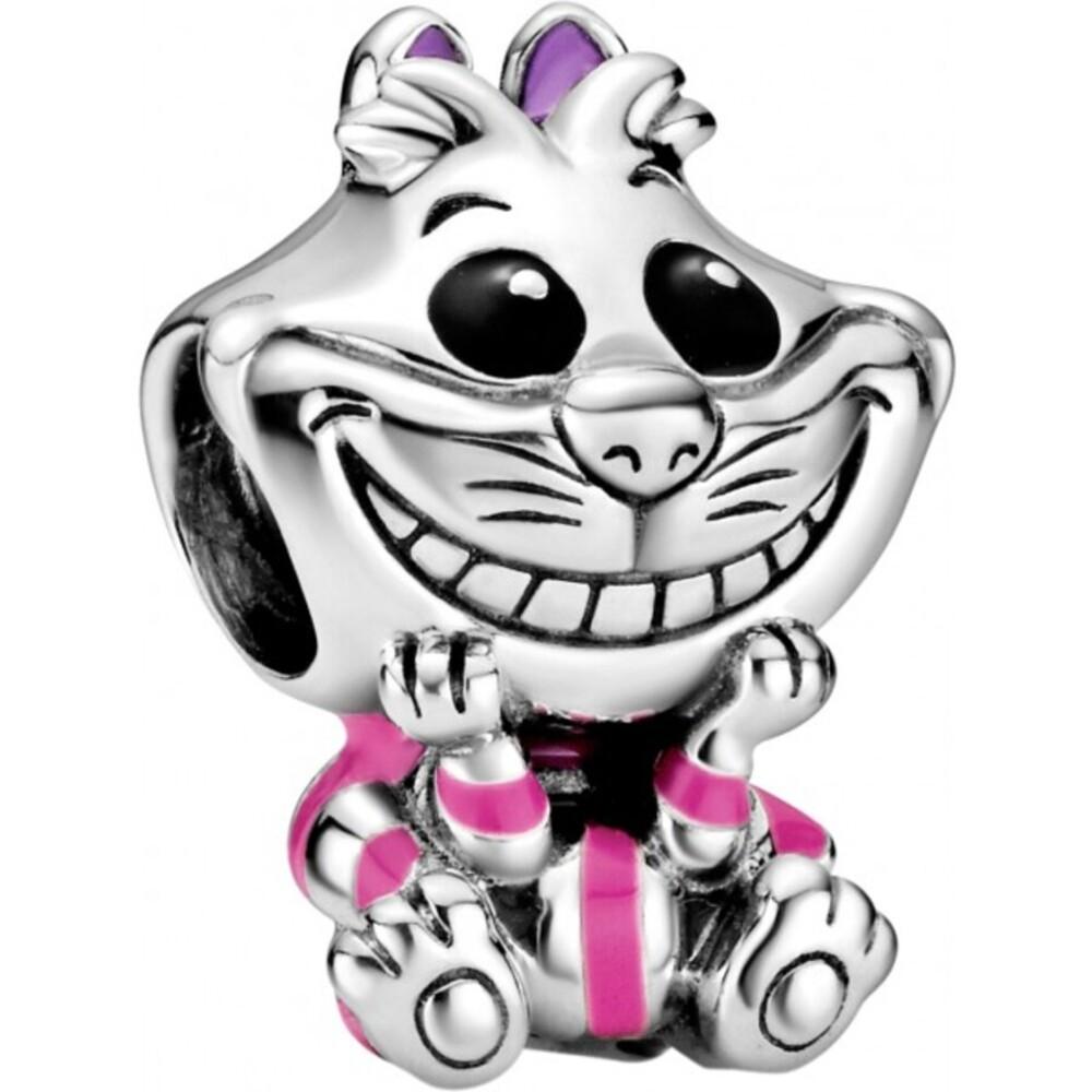 Pandora Disney Charm 798850C01 Disney Alice in Wonderland Cheshire Cat Silber 925 Schwarz Lila Emaille
