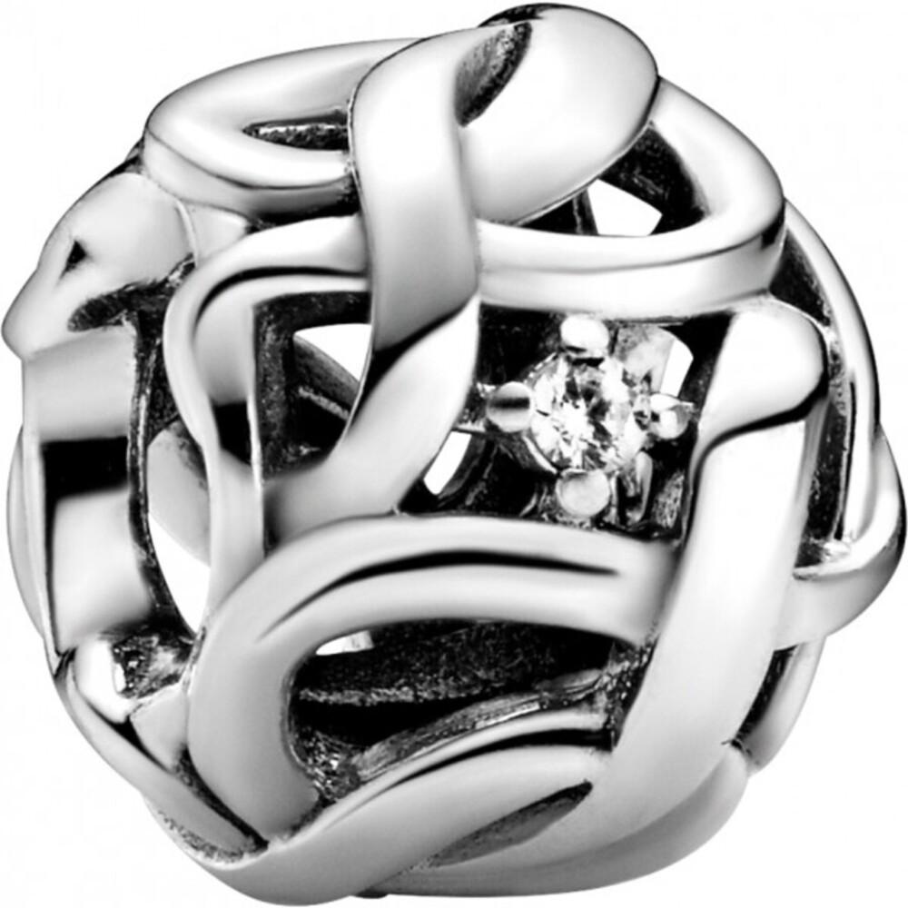 Pandora Timeless Charm 798824C01 Openwork Woven Infinity Silber 925 Klare Zirkonia