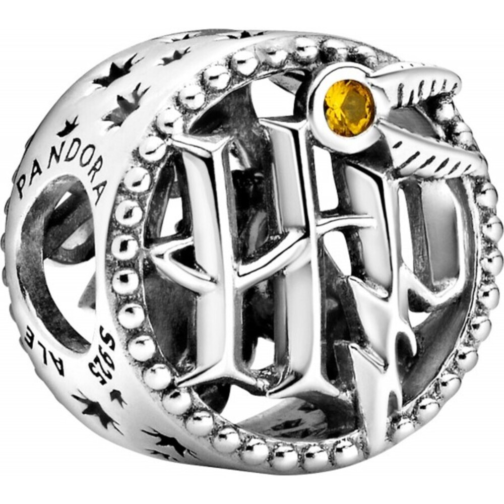 Pandora x Harry Potter Charm 799127C01 HP Logo Silber 925 Honiggelbe Emaille