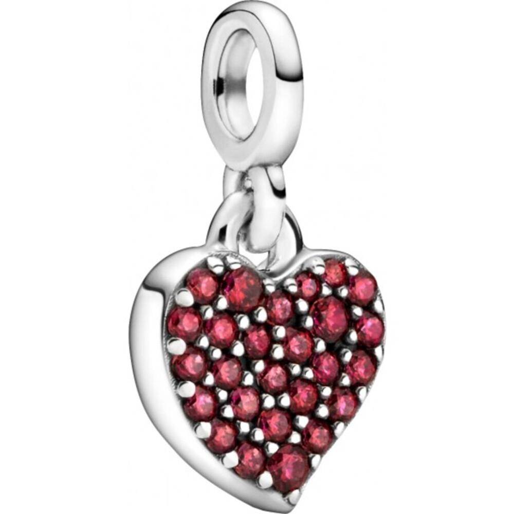 Pandora Me Charm Anhänger 798981C01 My Love Silber 925 Rote Zirkonia