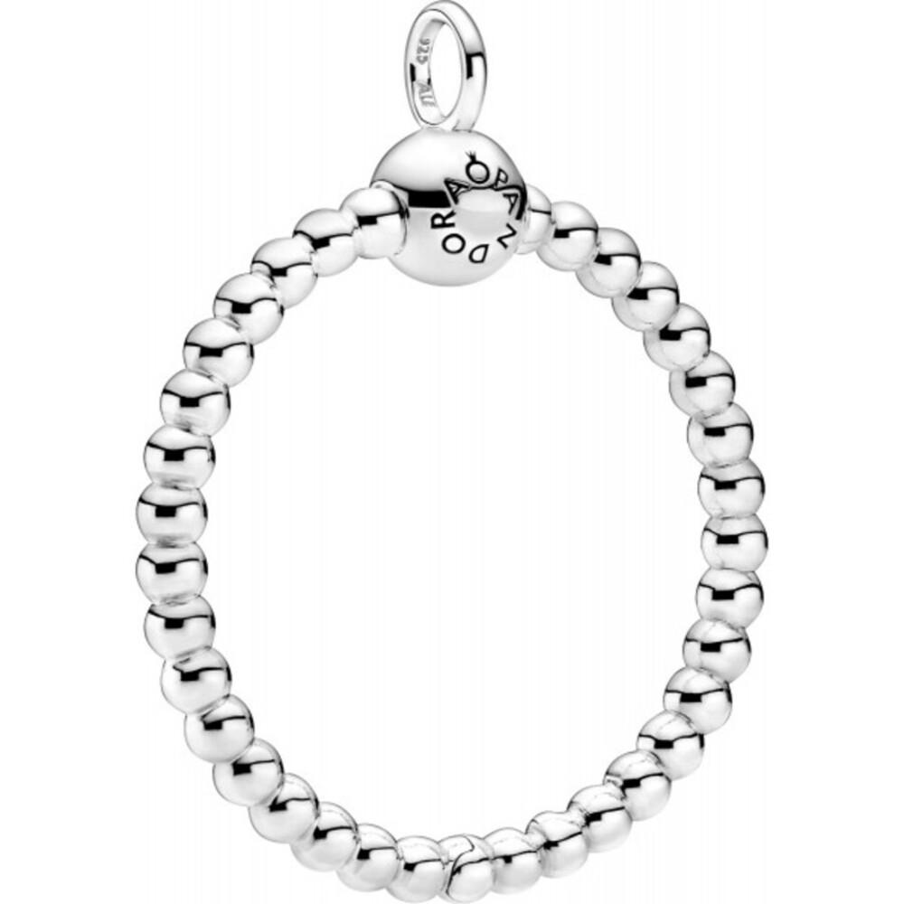 Pandora Purely Anhänger 399106C00 Pandora Moments Beaded O Pendant Medium Silber 925