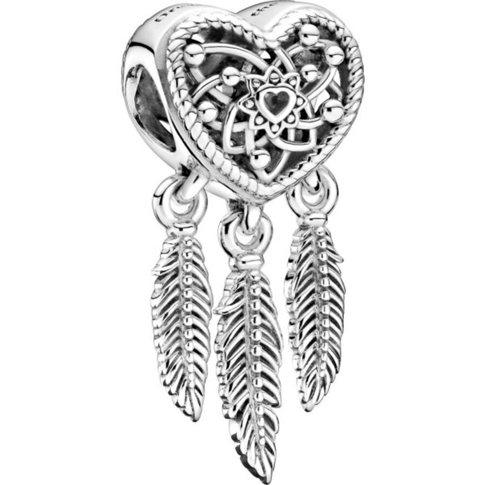 Pandora Passion Charm 799107C00 Three Feathers Dreamcatcher Silber 925