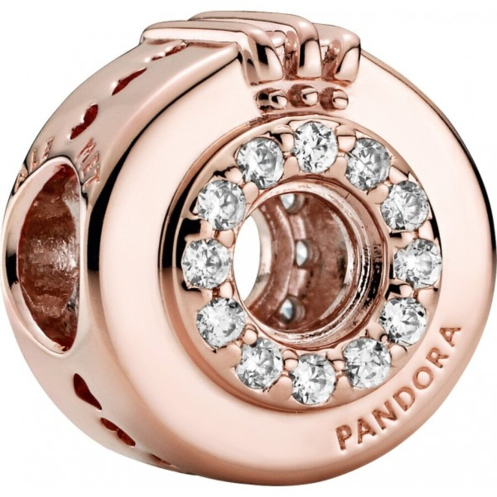 Pandora Charm 789059C01 Open Centre Pave Crown O Rose