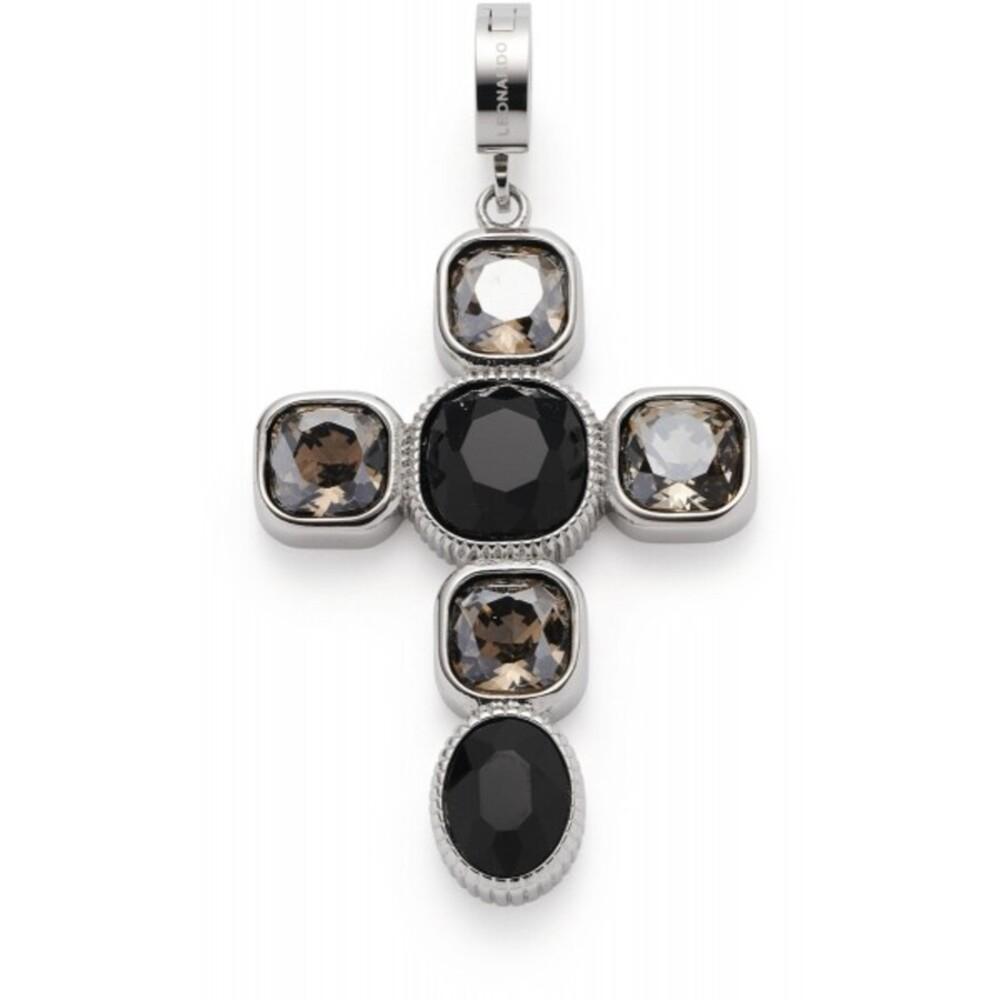 Leonardo Anhänger Venetta Clip&Mix 018760 Edelstahl Braune Schwarze Glassteine
