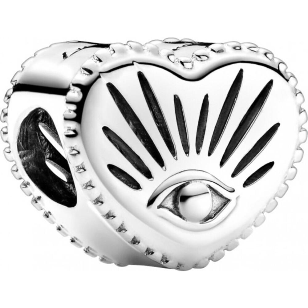 Pandora Charm 799179C00 All Seeing Eye And Heart Silber 925