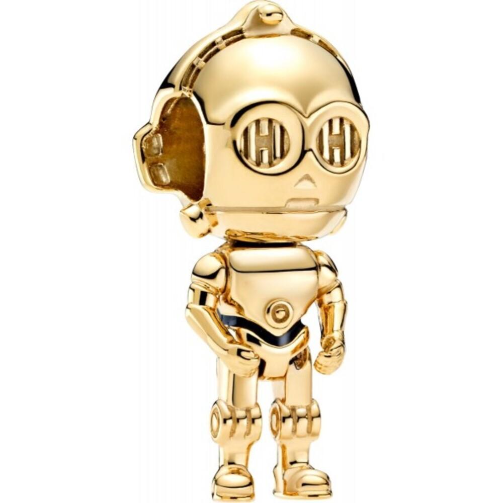 Pandora x Disney Star Wars Charm 769244C01 Star Wars C-3PO Shine Schwarze Emaille