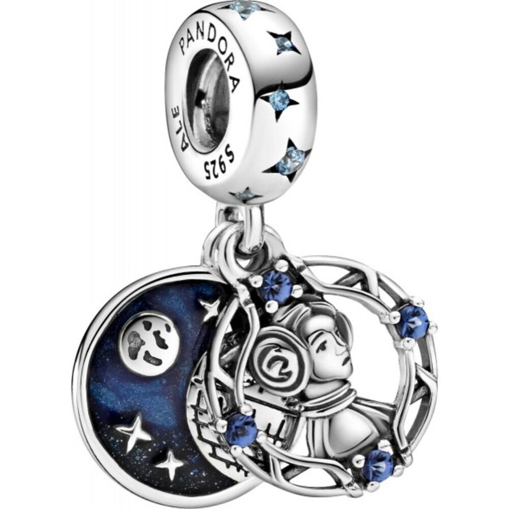 Pandora x Disney Star Wars Charm Anhänger 799251C01 Star Wars Princess Leia Silber 925 Blaue Zirkonia Kristalle Emaille