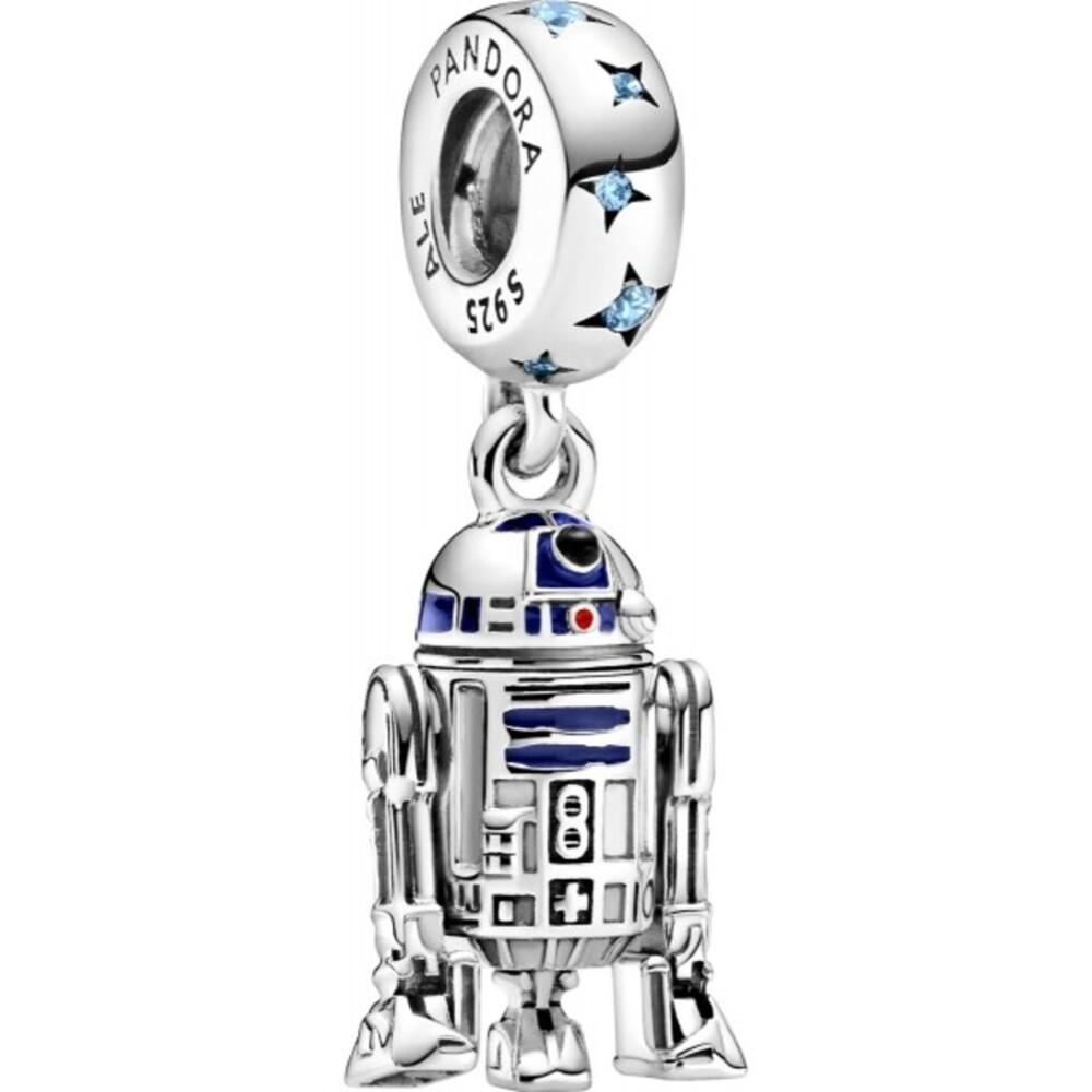 Pandora x Disney Star Wars Charm Anhänger 799248C01 StarWars R2-D2 Silber 925 Blaue Zirkonia Blaue Rote Emaille