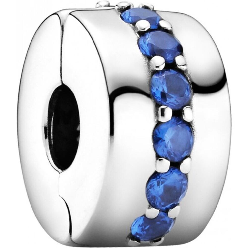 Pandora Clip Charm 791972C01 Blue Shining Path Silber 925 stellar blue crystal