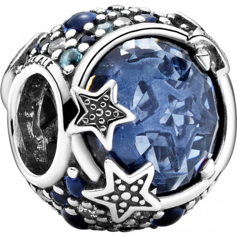Pandora Charm 799209C01 Celestial Blue Sparkling Stars Silber 925 clear cubic zirconia mixed blue crystals