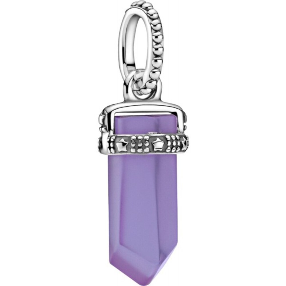 Pandora Colours Pendent Only Anhänger 399185C01 Purple Amulet Silber 925 Lila Kristall
