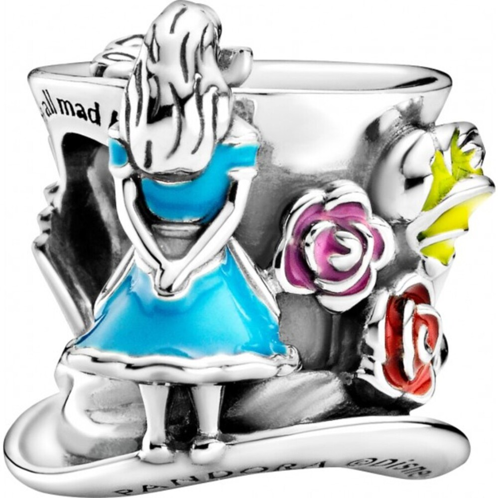 Pandora Disney Charm Alice im Wunderland 799348C01 The Mad Hatters Tea Party Sterling Silver 925-1
