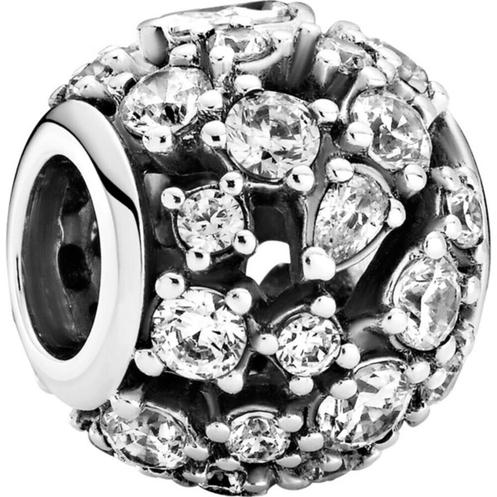 Pandora Timeless Charm 799225C01 Sparkling Round Openwork Silber 925 Klare Zirkonia