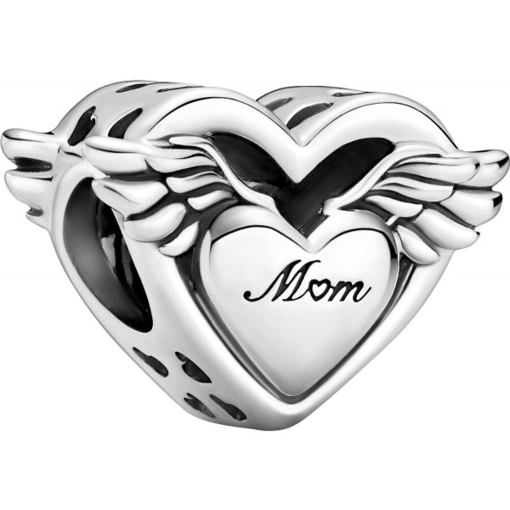 Pandora Moments Charm 799367C00 Angel Wings And Mum Silber 925