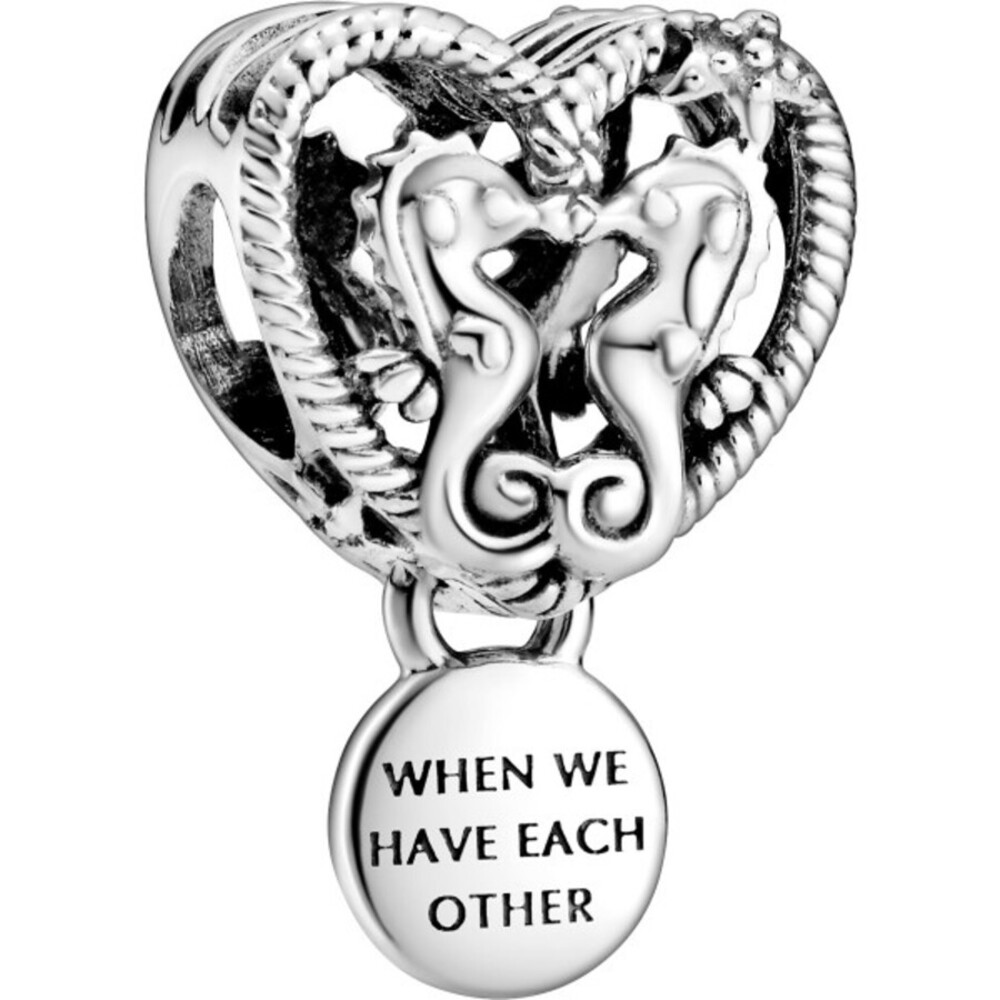 Pandora Charm Openwork Seahorses Herz Sterling Silber 925 Pandora Moments Kollektion Sommer 2021 798949C00
