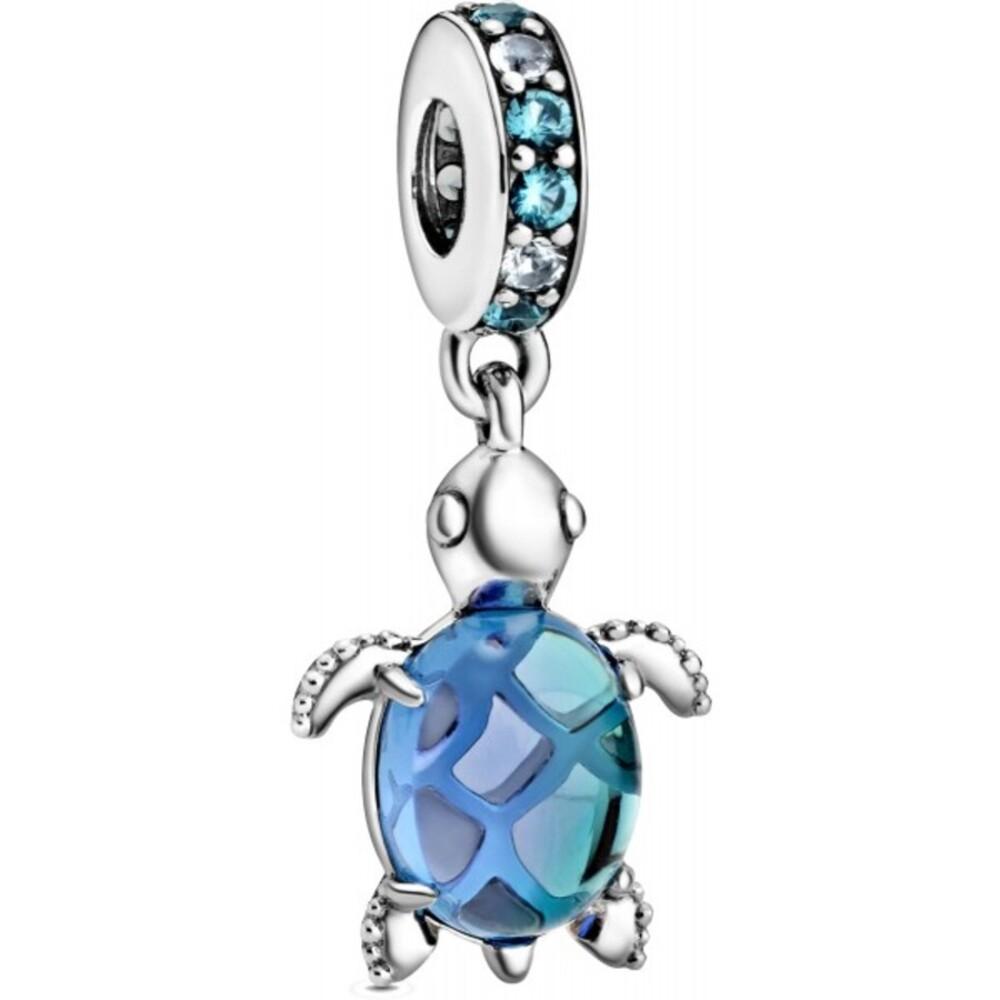 Pandora Charm Murano Glas Kristalle Schildkröte Silber 925 Moments Sommer 2021 Kollektion 798939C01