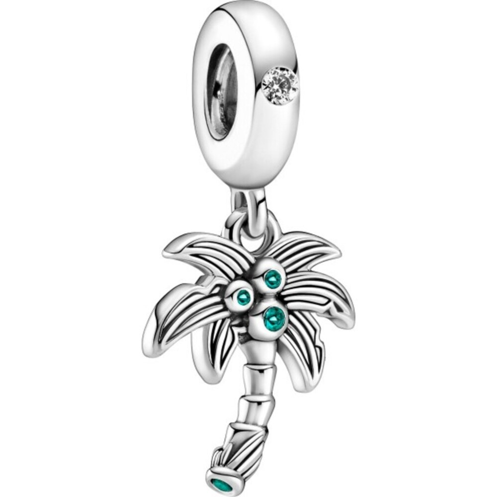 Pandora Charm Dangle Palm Tree Coconuts Sterling Silber 925 cubic Zirconia  Moment Sommer Kollektion 2021 799438C01