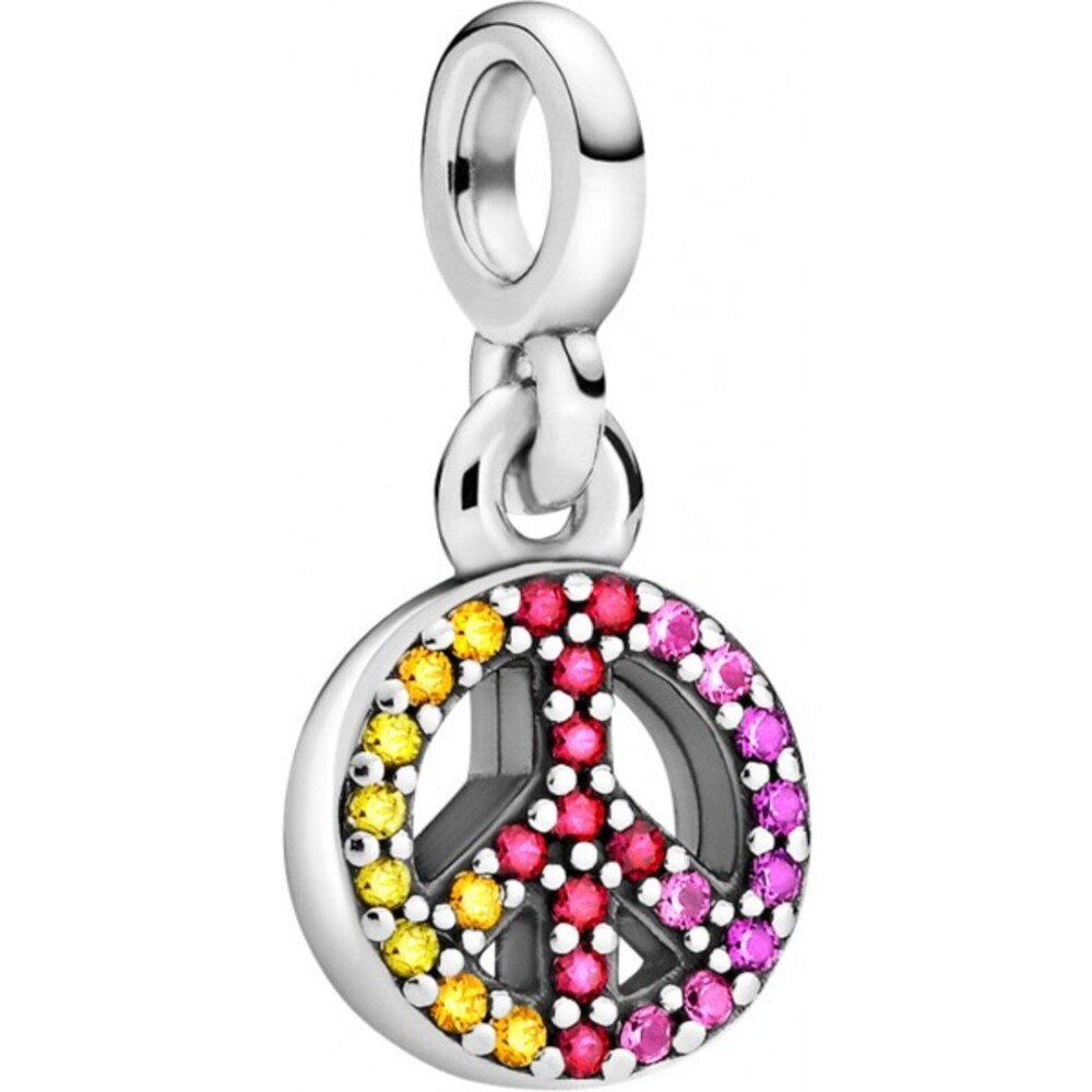 Pandora Me Collection 2021 Charm Dangle Peace Sterling Silber 925 Kristalle und Zirkonia 799424C01