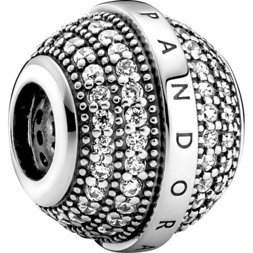 Pandora Charm 799489C01 Pave Logo Silber 925
