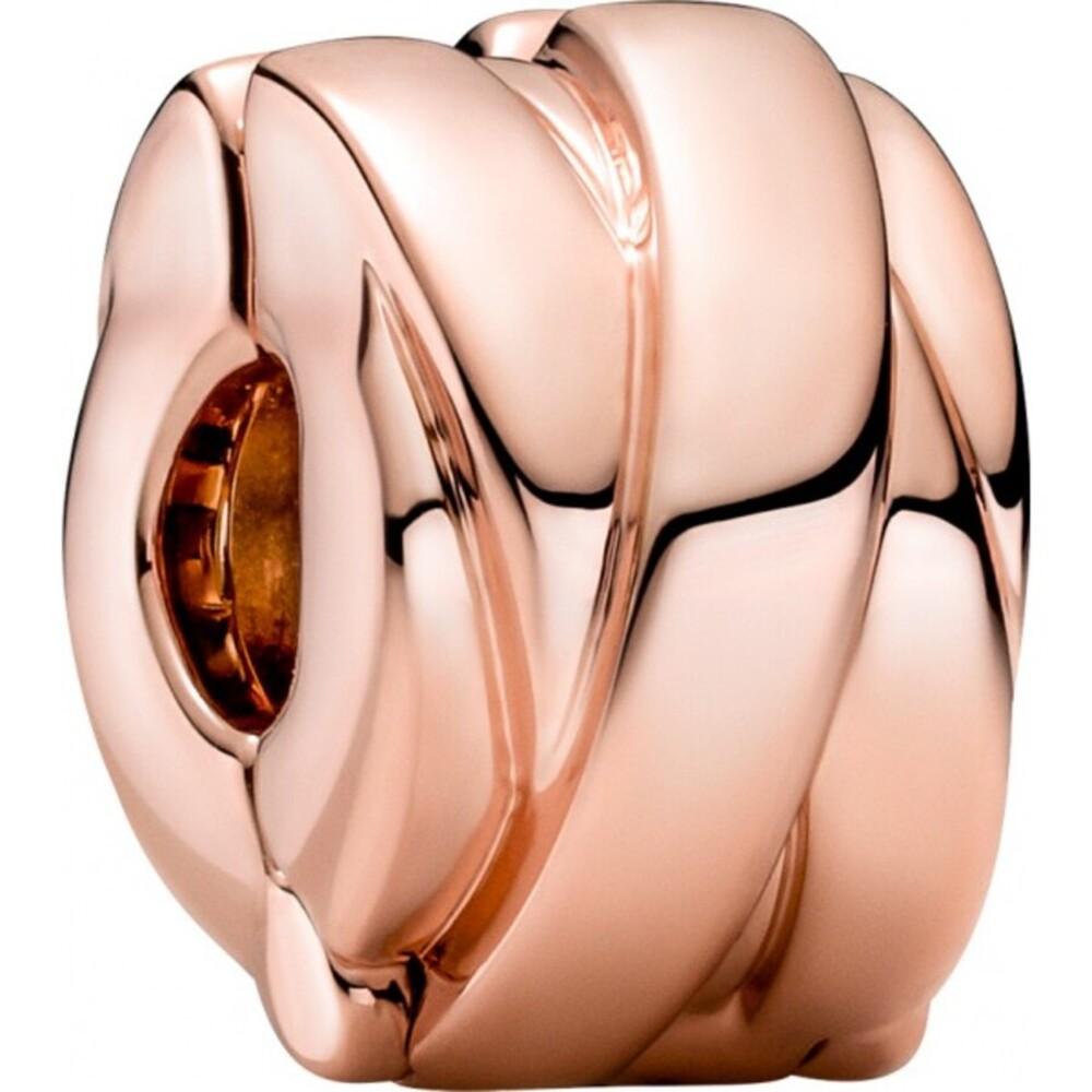Pandora Clips Charm 789502C00 Polished Ribbons Clip 14 Karat rose vergoldet