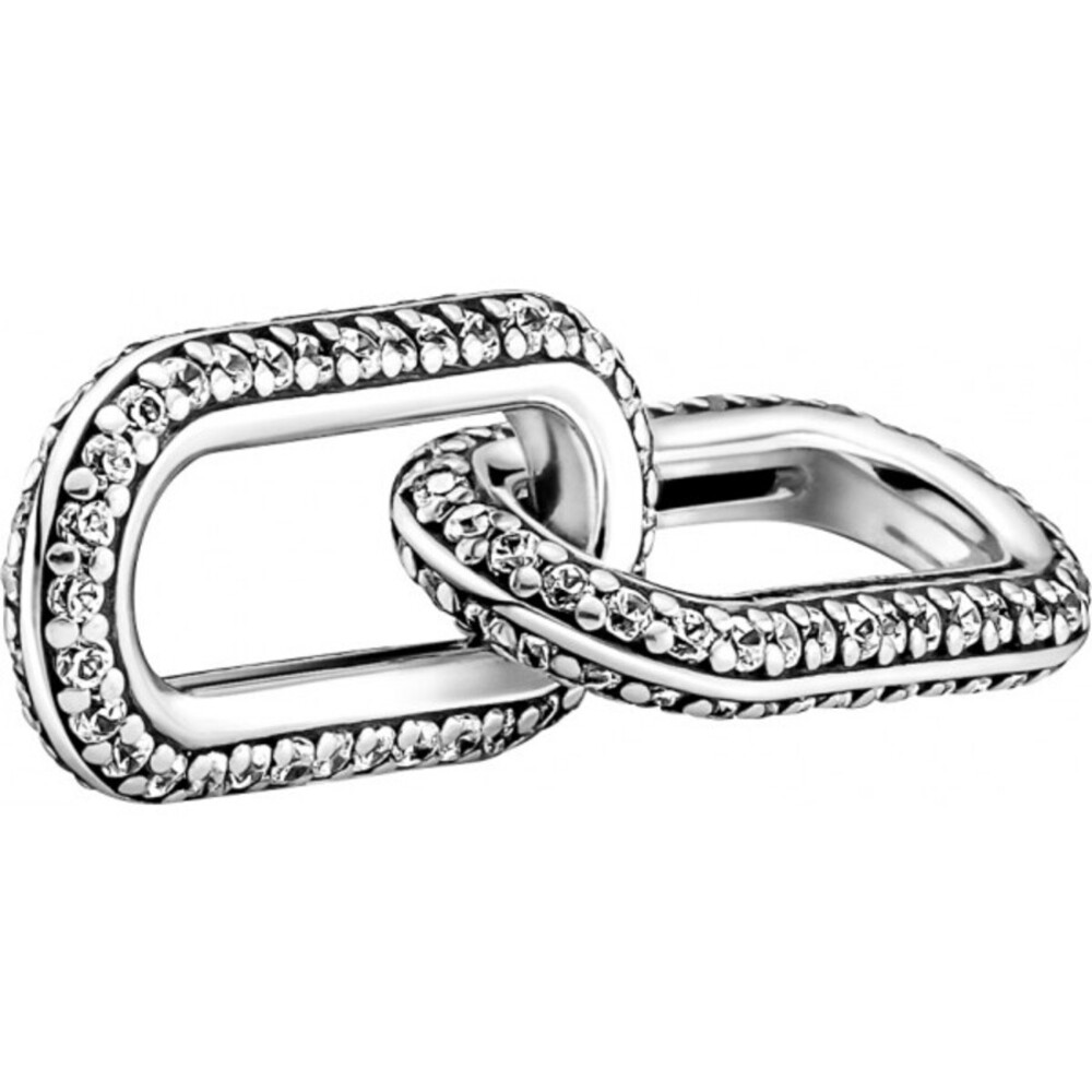 Pandora Me Links Verbindungs Element 799660C02 Styling Pave Double Link Sterling Silber 925 Zirkonia