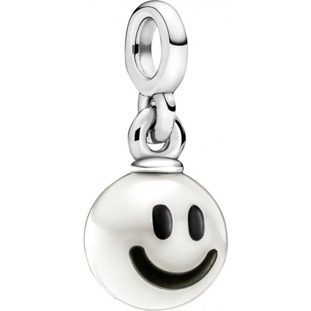 Pandora Me Charm 799678C01 Happy Mini Dangle Sterlingsilber 925 Süßwasserperle schwarze Emaille