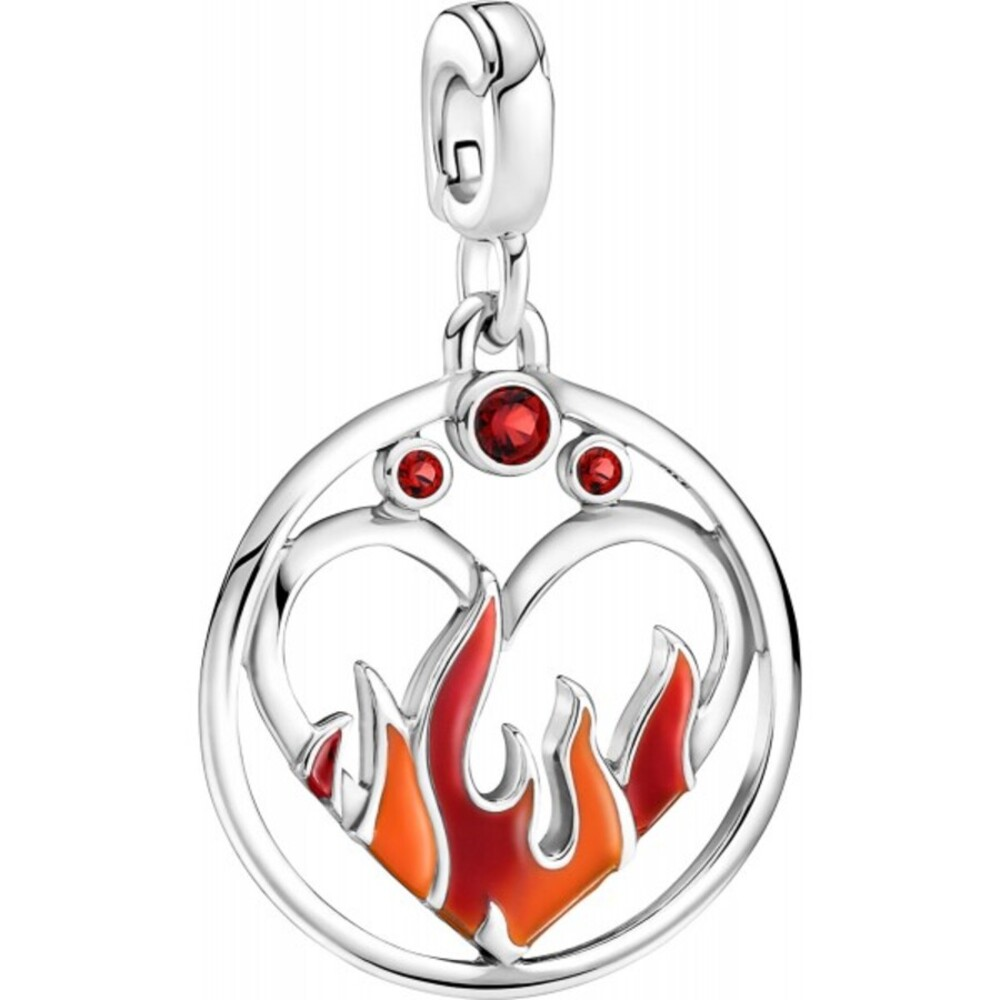 Pandora Me Charm Medaillons 799674C01 Fire Inside Medallion Sterling Silber 925 rote Kristalle mix Emaille