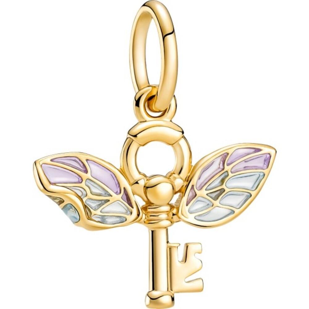 Pandora Harry Potter Anhänger 360034C01 Winged Key Pendant 14kt gold plattiert Zirkonia