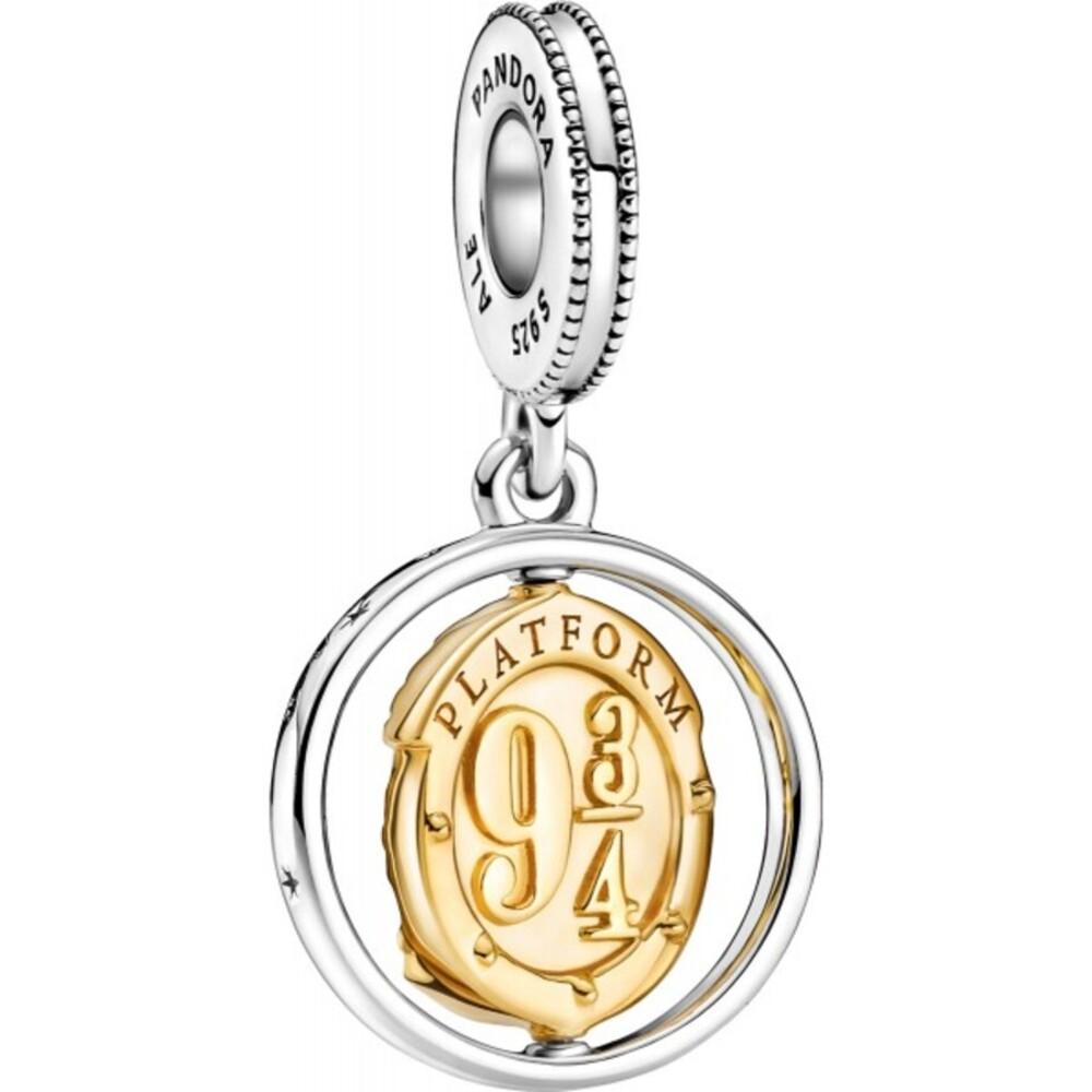 Pandora Harry Potter Charm Anhänger 760035C00 Hedwig Spinning 14kt gold plattiert Sterling Silber