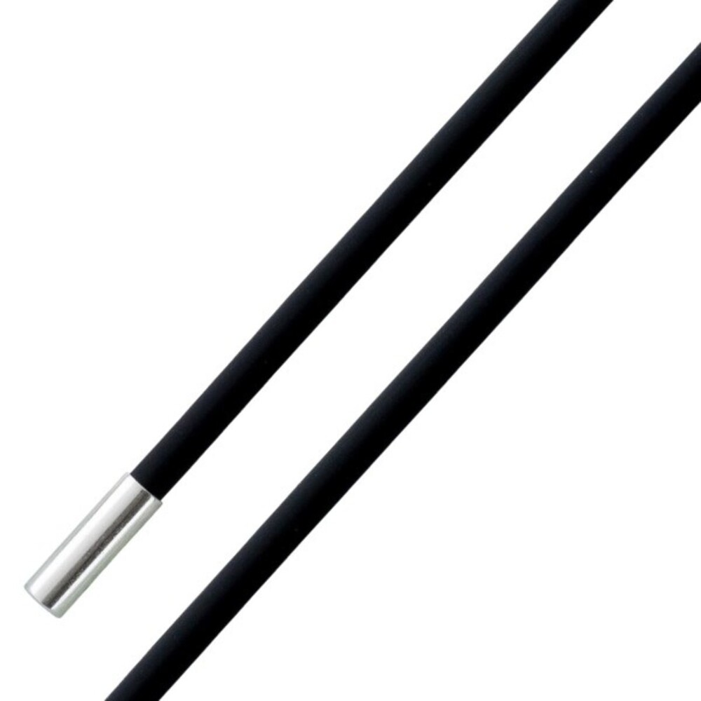 Kautschukkette Collierkette schwarz Silber Bajonettverschluss 925 rund glatt_01