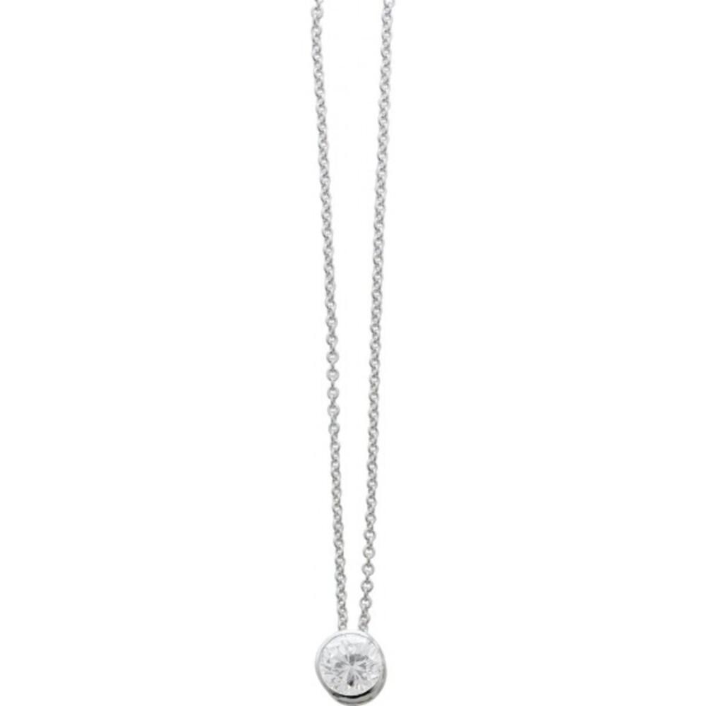 Silberkette Damen Collier Sterling Silber 925 Zirkonia