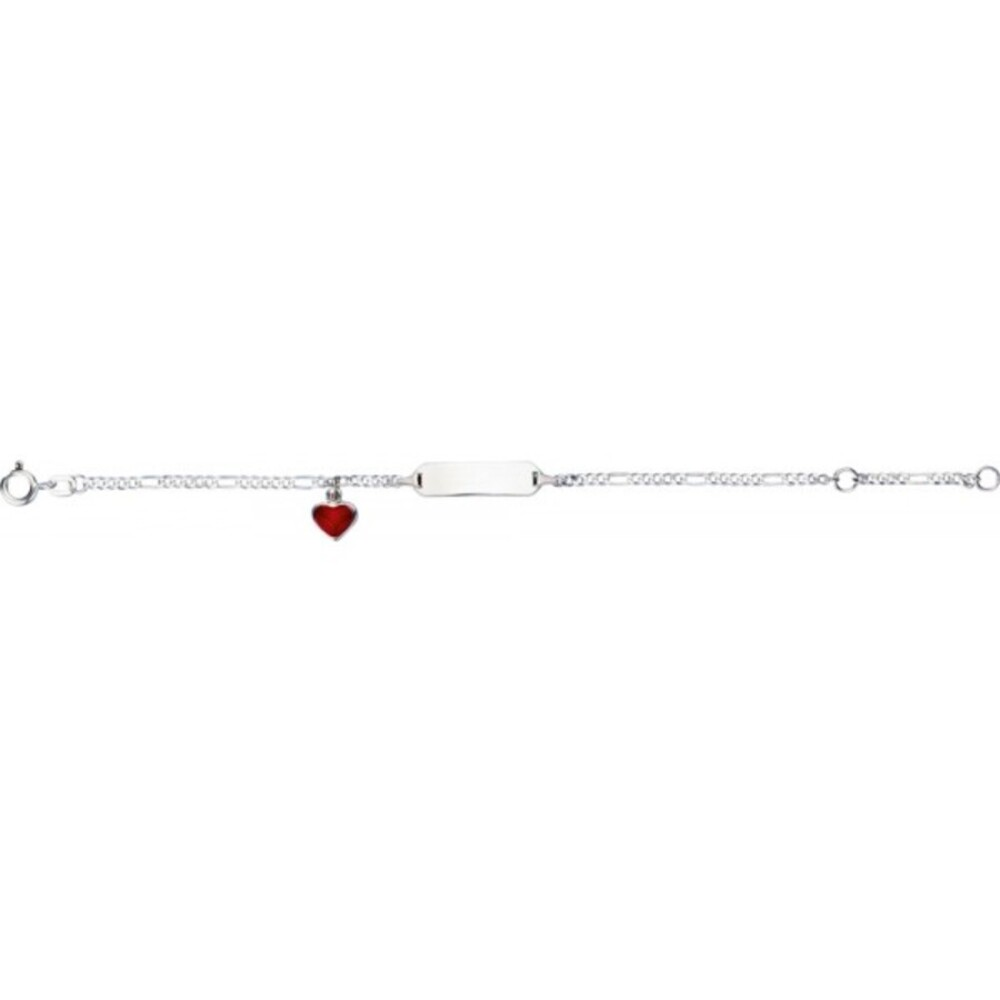 Gravurarmband in Silber Sterlingsilber 925 mit Herzanhänger